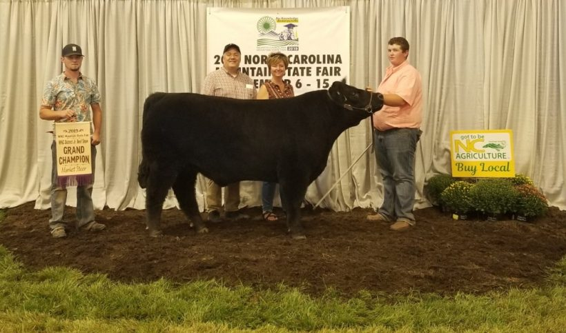 WNC Mtn State Fair Jr. Beef Market Steer Grand Champion